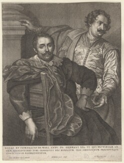 Cornelius de Wael; Lucas de Wael, by Wenceslaus Hollar, after  Sir Anthony van Dyck - NPG D9552