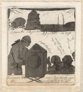 'Galante show', by James Sayers, published by  Thomas Cornell - NPG D9557