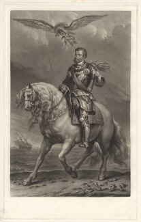 Charles V, Holy Roman Emperor, by Charles Turner, published by  Samuel Woodburn, after a portrait attributed to  Sir Anthony van Dyck - NPG D9558
