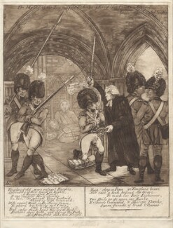 'The master of the inn confers the order of knighthood on Don Quixotte', by James Sayers - NPG D9571