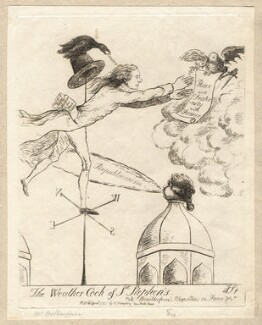 'The weathercock of St Stephen's' (Charles James Fox; William Wilberforce), by James Sayers, published by  Hannah Humphrey - NPG D9575