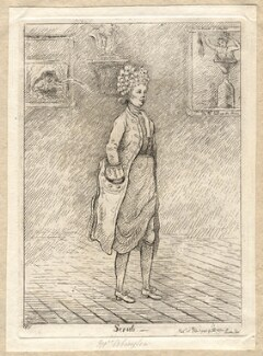 Frances Abington (née Barton) ('Scrub'), by James Sayers, published by  Thomas Cornell - NPG D9580