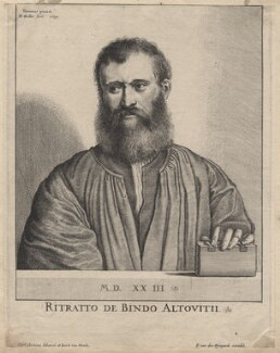 Bindo AltovitI, by Wenceslaus Hollar, after  Titian - NPG D9589