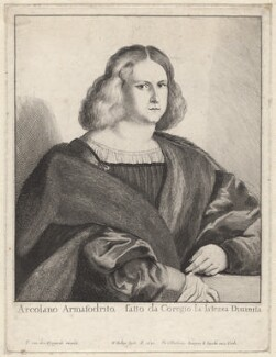 Arcolano Armafrodito, by Wenceslaus Hollar, after  Antonio Allegri da Correggio - NPG D9597