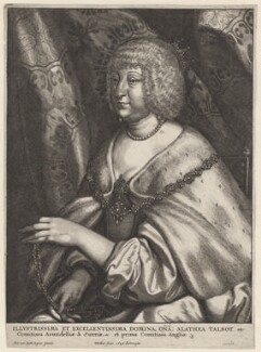 Aletheia Talbot, Countess of Arundel, by Wenceslaus Hollar, after  Sir Anthony van Dyck - NPG D9598