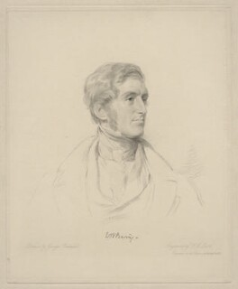 (William) Bingham Baring, 2nd Baron Ashburton, by Frederick Christian Lewis Sr, after  George Richmond - NPG D20637