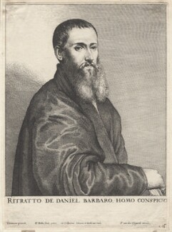 Daniel Barbaro, by Wenceslaus Hollar, after  Titian - NPG D9618