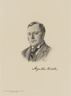 Augustine Birrell, after Reginald G. Jennings - NPG D9636