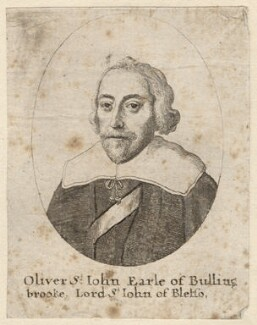 Oliver St John, 1st Earl of Bolingbroke, by Wenceslaus Hollar - NPG D9641