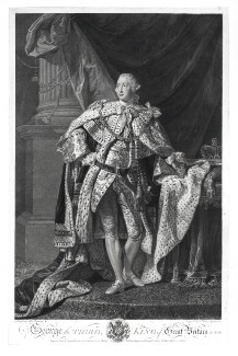 King George III, by William Wynne Ryland, after  Allan Ramsay - NPG D9649