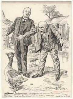 Sauce for the Goose (George Nathaniel Curzon, Marquess Curzon of Kedleston; Raymond Poincaré), by Bernard Partridge - NPG D9707