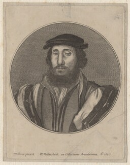 Jean de Dinteville, by Wenceslaus Hollar, after  Hans Holbein the Younger - NPG D9719