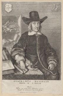 Sir William Dugdale, by Wenceslaus Hollar - NPG D9725