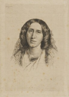 George Eliot, by Paul Adolphe Rajon, after  Sir Frederic William Burton - NPG D9729