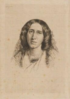 George Eliot, by Paul Adolphe Rajon, after  Sir Frederic William Burton - NPG D9729