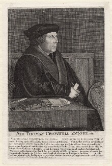 Thomas Cromwell, Earl of Essex, by Unknown artist, by  Wenceslaus Hollar - NPG D9736