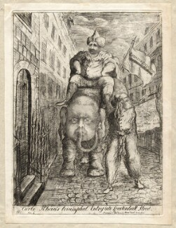 'Carlo Khan's triumphal entry into Leadenhall Street', by James Sayers, published by  Thomas Cornell - NPG D9748