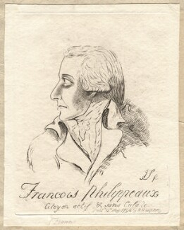Sir Philip Francis ('Francois Philippeaux'), by James Sayers, published by  Hannah Humphrey - NPG D9755