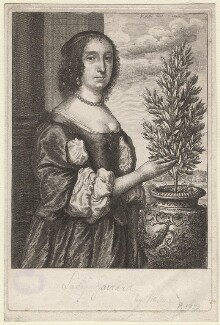 Sarah, Lady Garrard, by Wenceslaus Hollar - NPG D9757