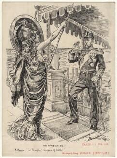 The Home-Coming (King George V), by Bernard Partridge - NPG D9762