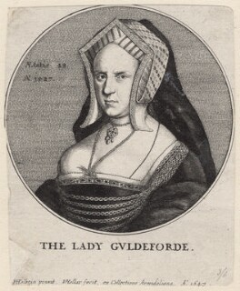 Mary (née Wotton), Lady Guildford, by Wenceslaus Hollar, after  Hans Holbein the Younger - NPG D9778