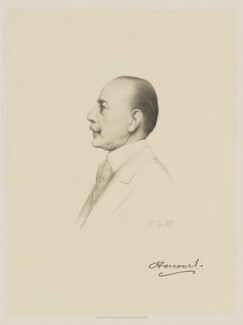 Lewis Harcourt, 1st Viscount Harcourt, by Henry Dixon & Son, after  Frank Dicksee - NPG D9787