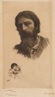 Hubert Herkomer A.R.A. and his Children, by Sir Hubert von Herkomer, 1879 - NPG D9797 - © National Portrait Gallery, London