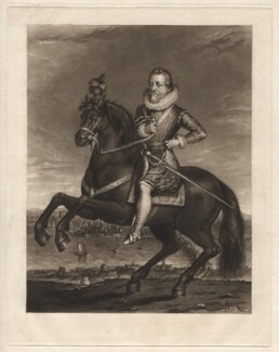 King James I of England and VI of Scotland, by Charles Turner, published by  Samuel Woodburn, after  Francis Delaram, published 1814 - NPG D9809 - © National Portrait Gallery, London