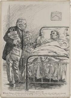 Alleviation's Artful Aid (David Lloyd George), by Bernard Partridge - NPG D9812