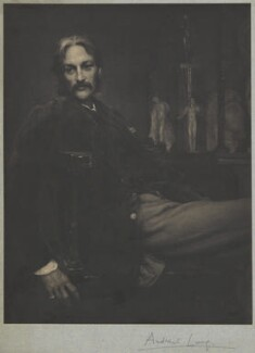 Andrew Lang, by Frederick Hollyer, after  Sir William Blake Richmond - NPG D9819