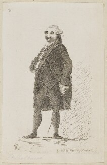 William Petty, 1st Marquess of Lansdowne (Lord Shelburne), by James Sayers, published by  Charles Bretherton - NPG D9822