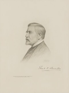 Sir Frank Cavendish Lascelles, by The Autotype Company, after  Frank Dicksee - NPG D9825