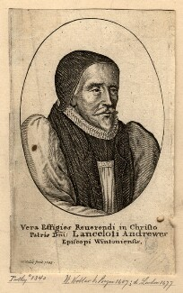 Lancelot Andrewes, by Wenceslaus Hollar, after  Unknown artist, 1643 - NPG D983 - © National Portrait Gallery, London