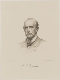 Sir Alfred Comyn Lyall, by Charles William Sherborn, after  Sir James Jebusa Shannon - NPG D9842