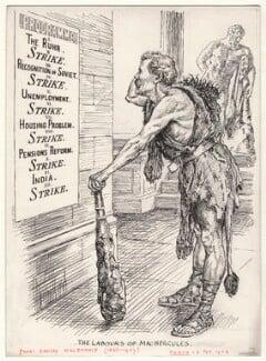 The Labours of MacHercules (Ramsay MacDonald), by Bernard Partridge - NPG D9845