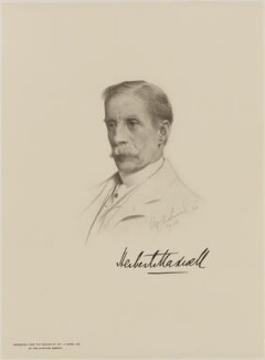 Sir Herbert Eustace Maxwell, 7th Bt, after Alfred U. Soord - NPG D9853