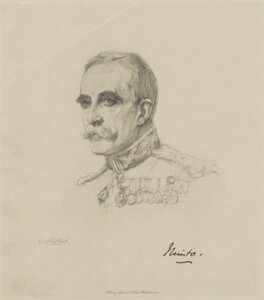 Gilbert John Elliot-Murray-Kynynmound, 4th Earl of Minto, by Henry Dixon & Son, after  Violet Manners, Duchess of Rutland - NPG D9863