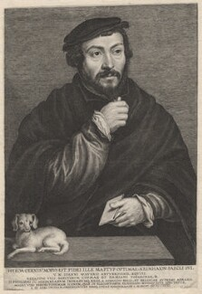 Unknown man called Sir Thomas More, by Lucas Vorsterman, after  (Claude) Corneille de Lyon - NPG D9866