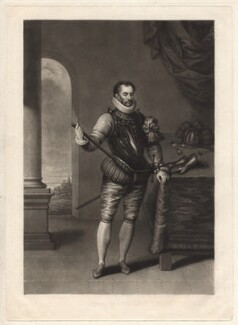 William I, Prince of Orange, by Charles Turner, after  Johan Wierix - NPG D9886