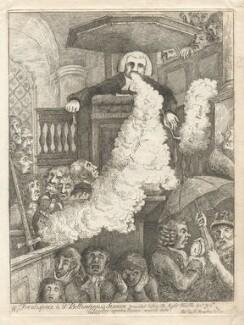 Samuel Parr ('Frontispiece to Dr Bellendus's sermon...'), by James Sayers, published by  Hannah Humphrey - NPG D9893