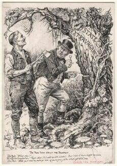 The Tree that Spoilt the Prospect (Neville Chamberlain), by Bernard Partridge - NPG D9900