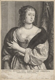 Frances Weston (née Stuart), Countess of Portland, by Wenceslaus Hollar, after  Sir Anthony van Dyck - NPG D9901