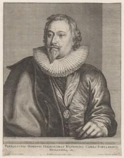 Richard Weston, 1st Earl of Portland, by Wenceslaus Hollar, after  Sir Anthony van Dyck - NPG D9902