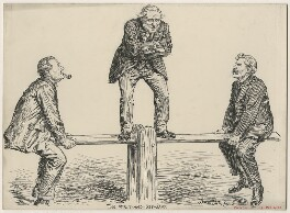 The Wait-And-Seesaw, by Bernard Partridge - NPG D9914
