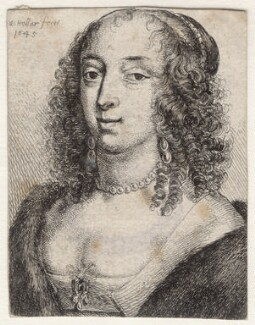 Mary Villiers, Duchess of Richmond and Lennox, by Wenceslaus Hollar, 1645 - NPG D9919 - © National Portrait Gallery, London