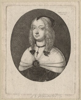 Mary Villiers, Duchess of Richmond and Lennox, by Wenceslaus Hollar, 1648 - NPG D9920 - © National Portrait Gallery, London
