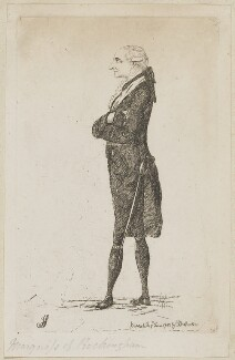 Charles Watson-Wentworth, 2nd Marquess of Rockingham, by James Sayers, published by  Charles Bretherton - NPG D9925