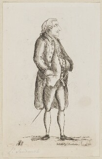 John Montagu, 4th Earl of Sandwich, by James Sayers, published by  Charles Bretherton - NPG D9937