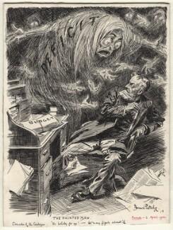 The Haunted Man (Michael Edward Hicks Beach, 1st Earl St Aldwyn), by Bernard Partridge - NPG D9948