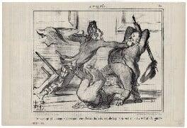 Richard Cobden; Joseph Sturge; John Bright, by Honoré Daumier, published 28 April 1856 - NPG D9958 - © National Portrait Gallery, London